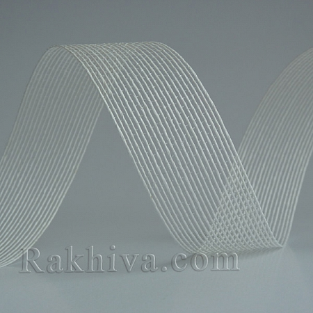 Тъкана хартиена панделка, бяло (30/15/2410)