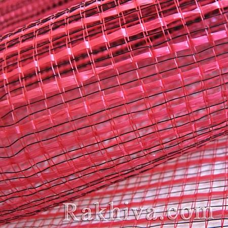 Двуцветна мрежа за цветя Фантазия (Корея) цвят червено с черно, червено, черно  (9 ярда) (44/80-20)