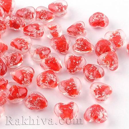 Сърце за бижу, сърце червено, 4 бр. (LAMP-R126-16mm-07)