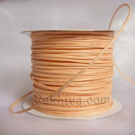 Хартиен шнур с тел, праскова (2/50/6148) (ролка 50м)