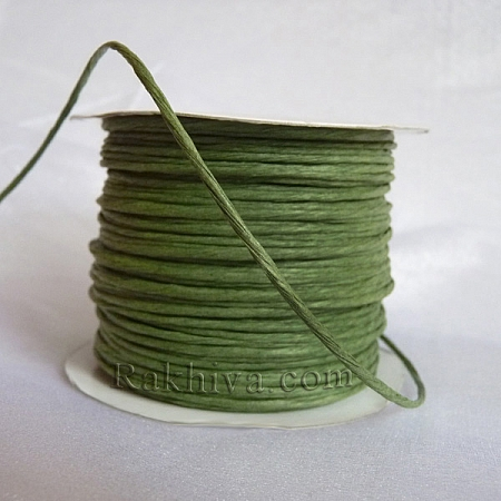Хартиен шнур с тел, войнишко зелено (2/25/6164) ролка 22,50м