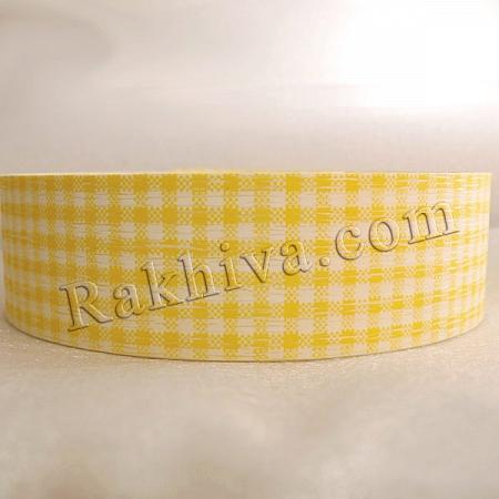 Панделка пастел каре - Гърция, каре жълто (3/75/3070)