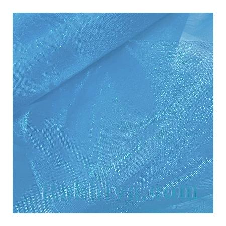 Панделка органза 16 см, бебешко синьо (16/9/3651)