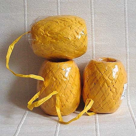 Хартиена рафия, патешко жълто (20/50/6272)