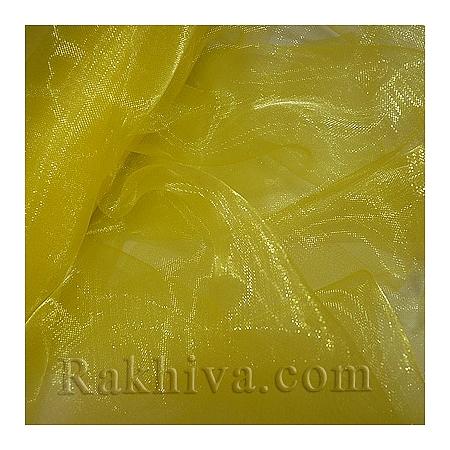 Панделка органза 16 см, жълто (16/9/3670)