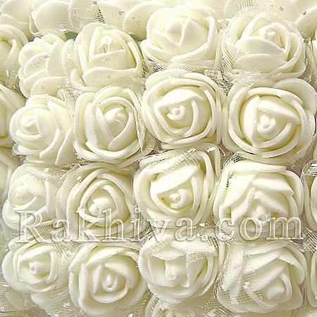 Силиконови розички - клонка, бяло (2,5 см/ 12 бр.)