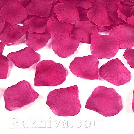 Листа от рози, тъмно розово