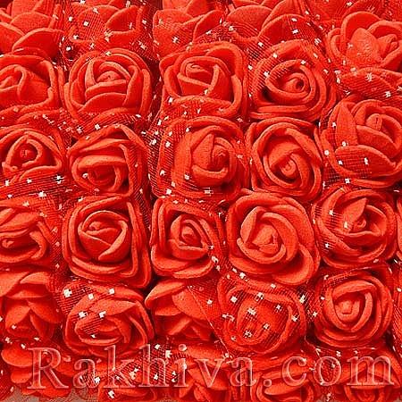 Силиконови розички - клонка, червено (2,5 см/ 12 бр.)