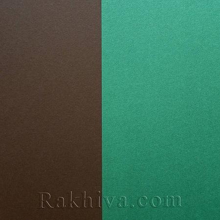 Релефен картон за картички, покани, за училище, тъмно зелено (1бр. А4) Nettuno verde foresta