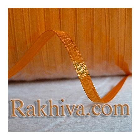 Панделка сатен - тъмно оранжево, 1 ролка 10 мм/ 25 ярда 125/(10/25/2376)