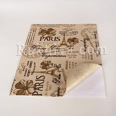 Лен листи  (самозалепващ гръб) Париж