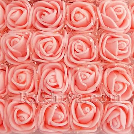 Силиконови розички - клонка, вечни рози, розов кварц (2,5 см/ 12 бр.)