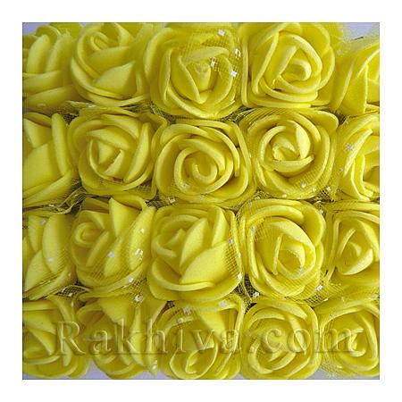 Силиконови розички - клонка, жълто (2,5 см/ 12 бр.)