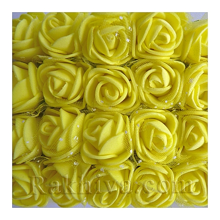 Силиконови розички - клонка , жълто 1 пакет (144 бр)