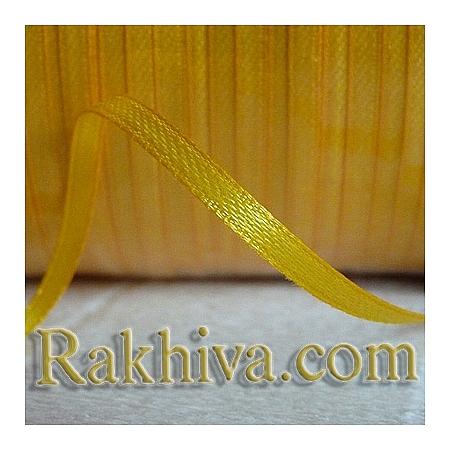 Панделка сатен - патешко жълто