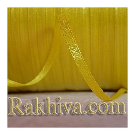 Панделка сатен - жълто, 1 ролка 10 мм/ 25 ярда 130/(10/25/2370)