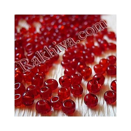Мъниста , червено 2мм/ 50гр. (SEED-A004-2MM-5/SDB5)