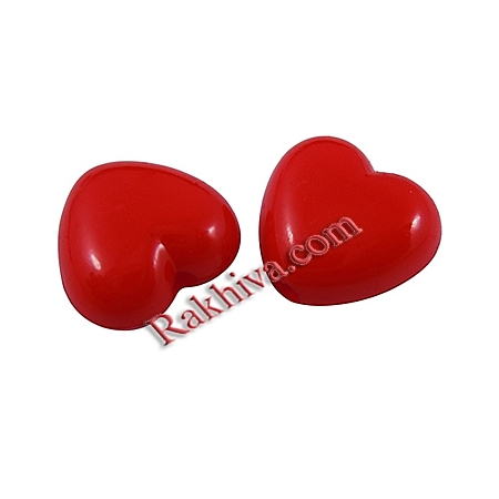 Червени сърца непрозрачни, 20г (SACR-10X11-12)