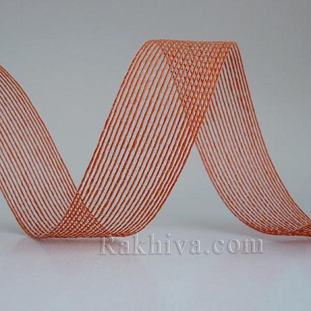 Тъкана хартиена панделка, оранжево (30/15/2475)