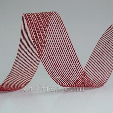 Тъкана хартиена панделка, червено (30/15/2480)