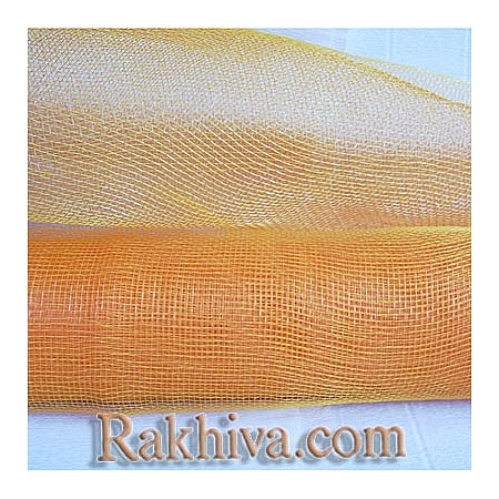 Мрежа за цветя 'Слънчеви лъчи' с двойна нишка (Корея), 9 ярда (оранж, жълто)(41/75-70)