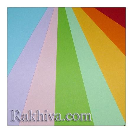 Цветен картон за картички, покани, за училище, микс цветове (50 листа)