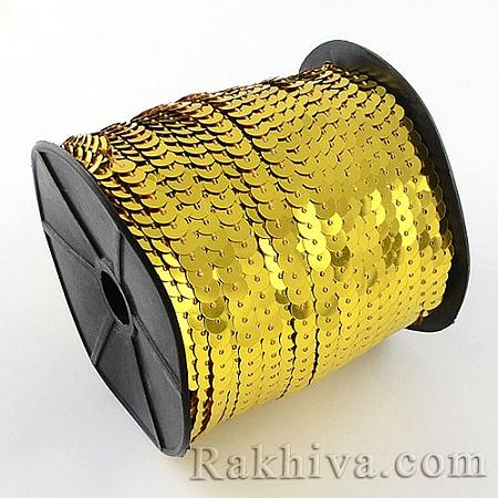 Златни пайети , злато (10 м) (PVC-R004-01)