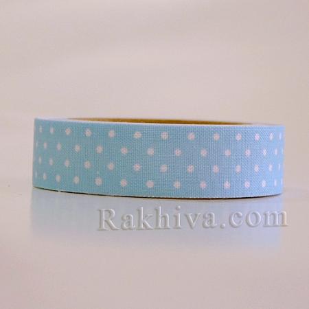 Декоративно тиксо Точки, бебешко синьо (DIY-A003-C03NEW)