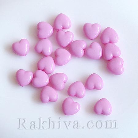 Розови сърца непрозрачни, 20г (SACR-10X11-11) розово