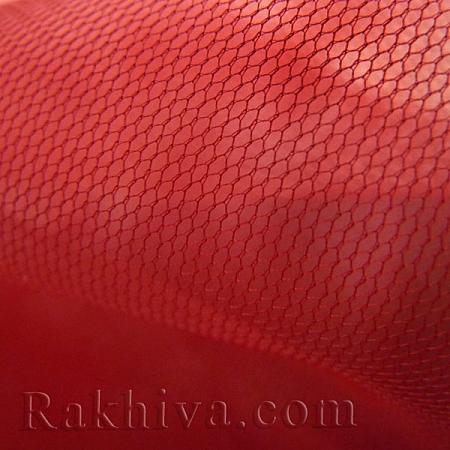 Италиански тюл цвят червено, червено за 1 линеен м (3 кв. м) 86/80