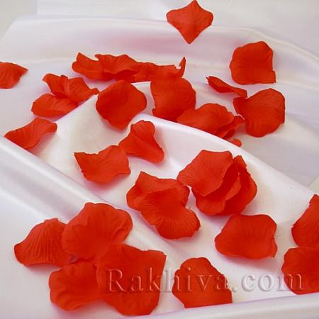 Листа от рози, червено