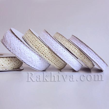 Ретро дантела (памучна), антично бяло, 23мм X 9.1м (25/91/T366/2.3/10)