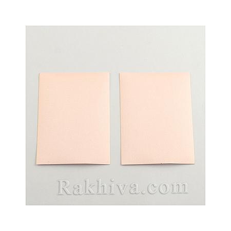 Текстилни листи перла (самозалепващ гръб), 1 лист, праскова, 100мм/ 65мм (DIY-Q003-01D)