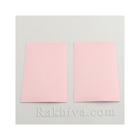 Перлен сатен лист (самозалепващ гръб), 1 лист, розово, 100мм/ 65мм (DIY-Q003-01E)