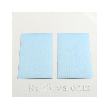 Текстилни листи перла (самозалепващ гръб), 1 лист, синьо, 100мм/ 65мм (DIY-Q003-01A)