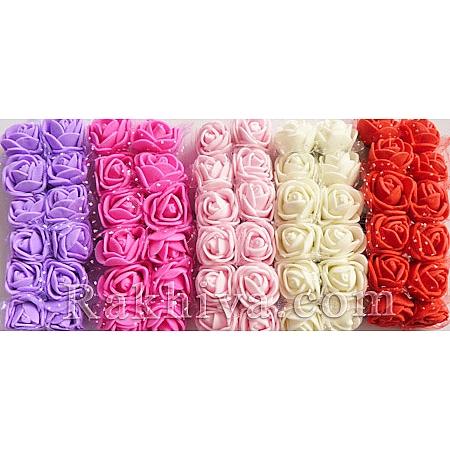 Силиконови розички - клонка, лилаво (2,5 см/ 2,5 см/ 12 бр.)