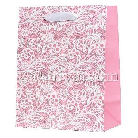 Луксозни ламинирани хартиени торбички на бройка с картичка, 26,4x32,4x13,7 cm (TR-30 големи)