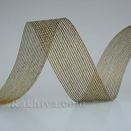 Тъкана хартиена панделка, злато (30/15/24200)