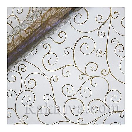 Опаковъчни ролки целофан Спирала,  ролка/ злато, прозрачно (70см/ 20м) (70/20/171200)