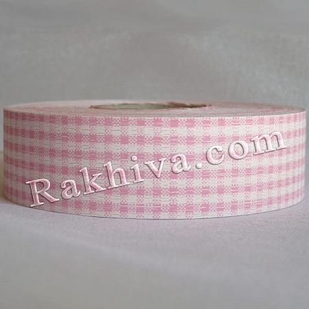 Панделка пастел каре - Гърция, каре розово (3/75/3040)
