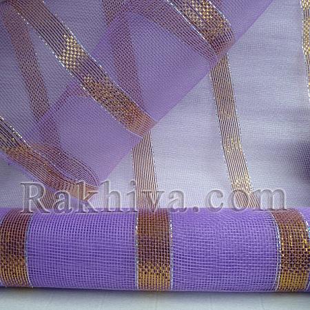 Мрежа за цветя Клеопатра, лилаво и злато, 9 ярда лилаво, злато (45/90)