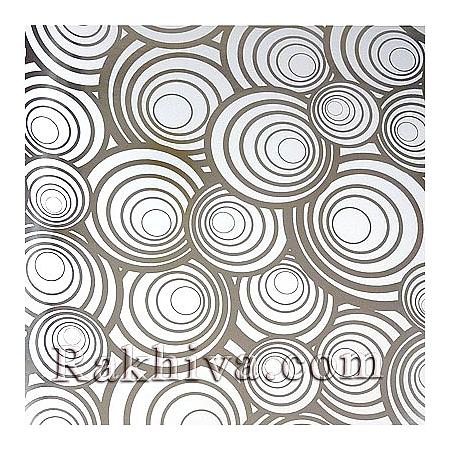 Луксозна италианска хартия за опаковане Star (метализе), 1000/50 бяло, сребро
