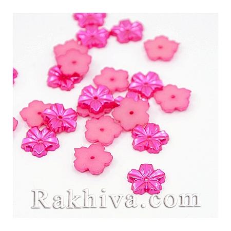 Цветя от перли за обеци, медальон, за бижута и декорация, цветя, циклама (MACR-F030-16A)