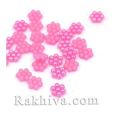 Цветя от перли за обеци, медальон, за бижута и декорация, цветя, циклама (MACR-F026-03)