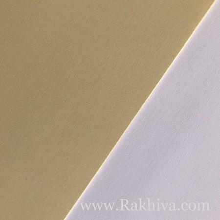 Перлен картон за картички, покани, за училище , бяло 20 см/30 см (1бр. А4/10)