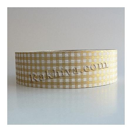 Панделка пастел каре - Гърция, каре злато (3/75/30200)