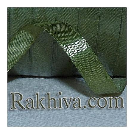 Панделка сатен - войнишко зелено, 1 ролка 6 мм/ 25 ярда 148/(6/25/2366)