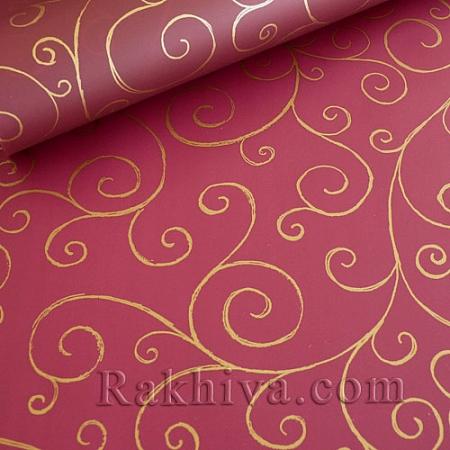 Опаковъчни ролки целофан Спирала, ролка/ бордо (70см/ 20м) (70/20/17186-200)