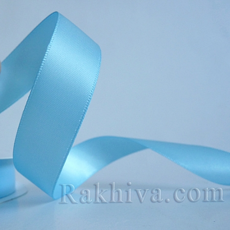 Двоен сатен, 20 мм/ 25 ярда , светло синьо (20/25/52351)