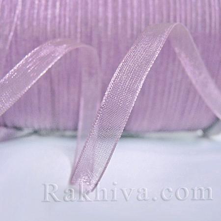 Тъкани панделки Органза, 1 ролка 1 cm/50ярда люляк (10/50/2293)